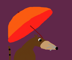 Rodent with Umbrella