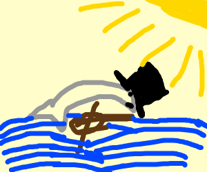 fancy dolphin plays a viloin