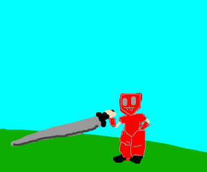 small guy in red with a sword