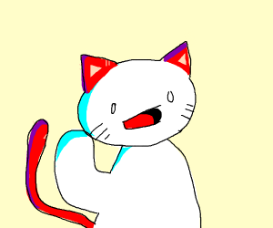 UwU TheOdd1sOut with red cat ears and tail