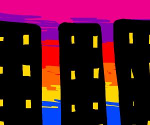 3 tall city buildings