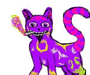 Trippy cat with a tiny goatee.