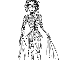 Someone tried to draw like Tim Burton, fails.