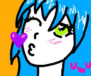 UwU Blue Hair Girl