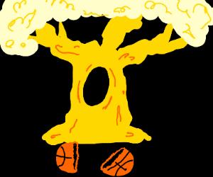 Split ball gold tree