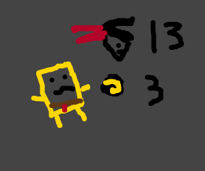 Spongebob is sad @ the Super Bowl game