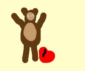 Yogi Bear kicking a Heart