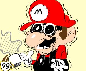 mario has a crippling coffee addiction
