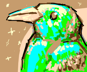 Close up of good green bird