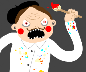 Angry painter