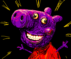 Peppa pig smiles