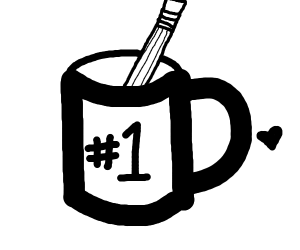 Pencil in a Coffee cup (Drawfee)