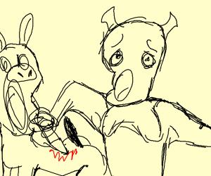 Sexy Shrek Stabbing Donkey