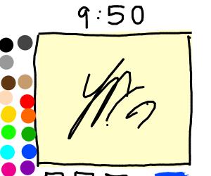 Drawing a Drawception panel