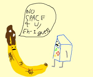 Banana bans BMO from going to space