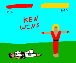 T Posing ken won a battle
