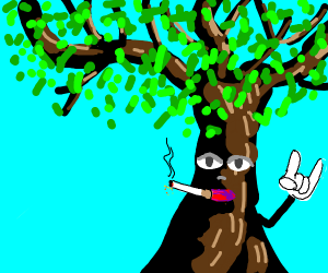 tree smoking