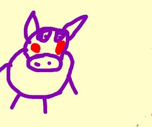 Shy Purple Hippo