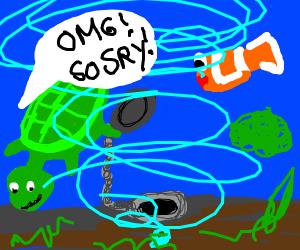 Turtle causes global annihilation