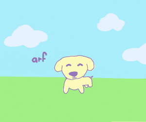 dog saying arf
