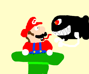 Mario is stuck in the pipe