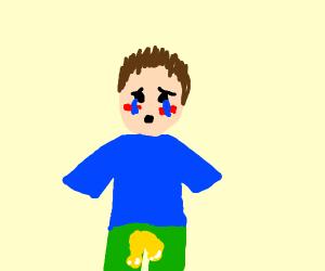 someone peed their pants