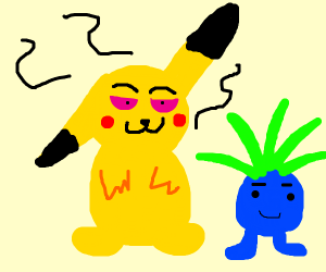 Pikachu is high from the weed