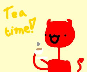 Tea time with Satan! How lovely!!