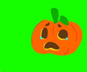NOT LONELY PUMKINS PLAY BUT LONELY PUMKIN SAD