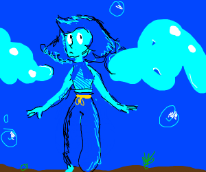 Lapis Lazuli You fled into th bottom of the c