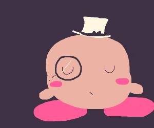 Fancy Kirby w/ a monocle