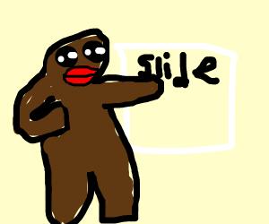 Ape giving a Presentation