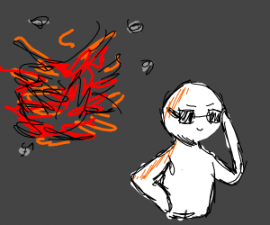 Cool guys never look at explosions.