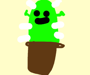 shrek but hes a cactus
