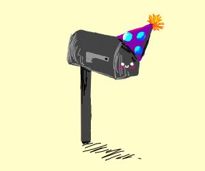Mailbox's birthday party