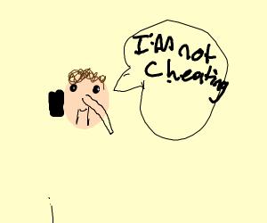 Pinocchio sexy conversation on phone