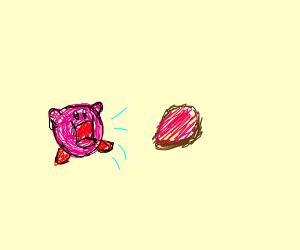 Kirby eats beef
