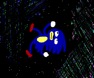 Sanic in space