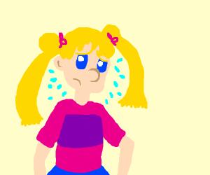 Sailor Moon looking worried