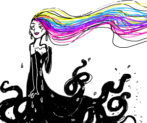 rainbow squid girl