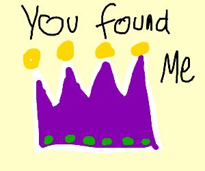 I found the purple crown