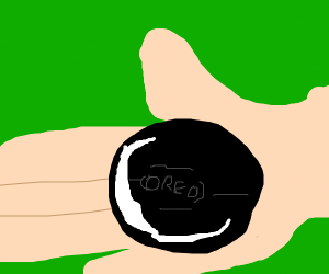 an oreo in someone's hand