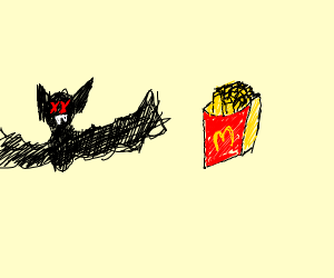 McD's french fries and a dead bat