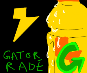 yellow lightning Gatorade