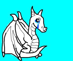 a sad dragon