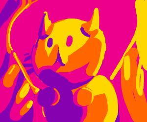 Adorable catapillar dragon