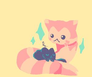 Furret and cat :0