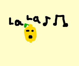 a lemon singing