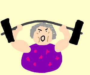 Grandmother Weightlifting