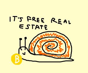 Slug playing with Bitcoin
